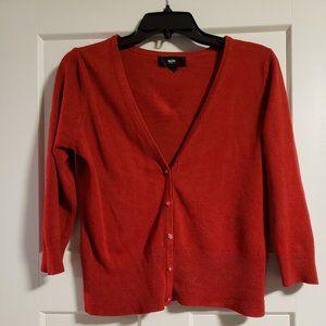 Red Mossimo 3/4 Sleeve Cardigan
